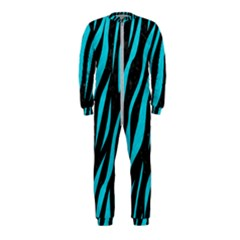 Skin3 Black Marble & Turquoise Colored Pencil (r) Onepiece Jumpsuit (kids)