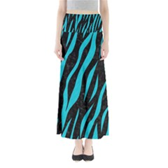 Skin3 Black Marble & Turquoise Colored Pencil (r) Full Length Maxi Skirt