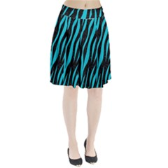 Skin3 Black Marble & Turquoise Colored Pencil (r) Pleated Skirt