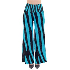 Skin4 Black Marble & Turquoise Colored Pencil Pants