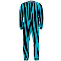 Skin4 Black Marble & Turquoise Colored Pencil (r) Onepiece Jumpsuit (men)