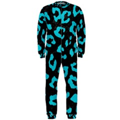 Skin5 Black Marble & Turquoise Colored Pencil Onepiece Jumpsuit (men)
