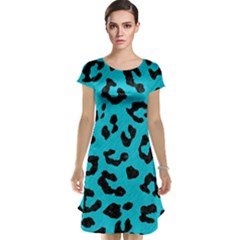 Skin5 Black Marble & Turquoise Colored Pencil (r) Cap Sleeve Nightdress