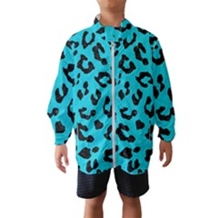Skin5 Black Marble & Turquoise Colored Pencil (r) Wind Breaker (kids)