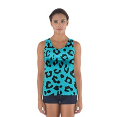 Skin5 Black Marble & Turquoise Colored Pencil (r) Sport Tank Top