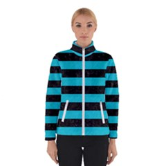 Stripes2 Black Marble & Turquoise Colored Pencil Winterwear