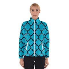 Tile1 Black Marble & Turquoise Colored Pencil Winterwear