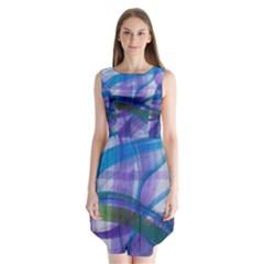 Construct Sleeveless Chiffon Dress