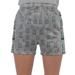Rasta Men Is Every Where Pop Art Sleepwear Shorts