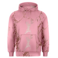 Luxurious Pink Marble Men s Pullover Hoodie
