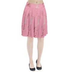 Luxurious Pink Marble Pleated Skirt