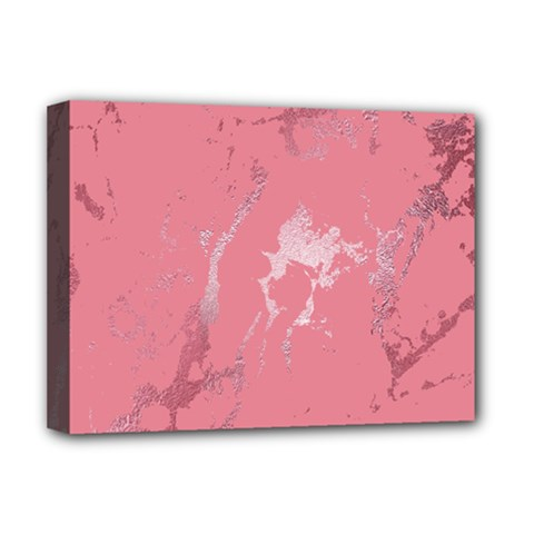 Luxurious Pink Marble Deluxe Canvas 16  X 12
