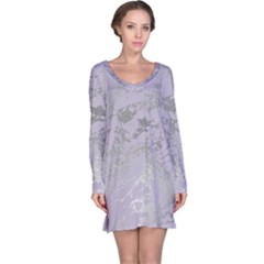 Luxurious Pink Marble Long Sleeve Nightdress