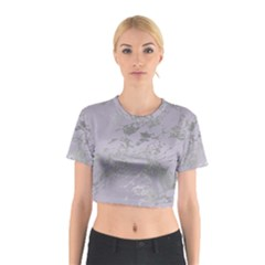 Luxurious Pink Marble Cotton Crop Top