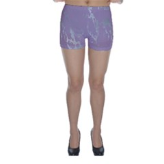 Luxurious Pink Marble Skinny Shorts