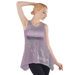 Luxurious Pink Marble Side Drop Tank Tunic