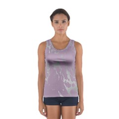 Luxurious Pink Marble Sport Tank Top