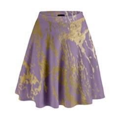 Luxurious Pink Marble High Waist Skirt