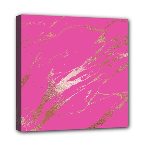 Luxurious Pink Marble Mini Canvas 8  X 8