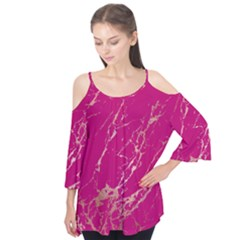 Luxurious Pink Marble Flutter Tees