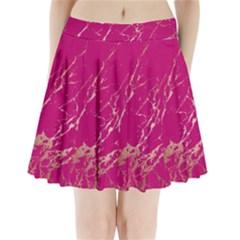 Luxurious Pink Marble Pleated Mini Skirt