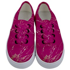 Luxurious Pink Marble Kids  Classic Low Top Sneakers