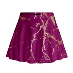Luxurious Pink Marble Mini Flare Skirt