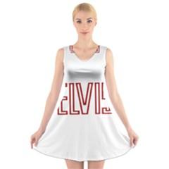 Elvis Presley V Neck Sleeveless Skater Dress