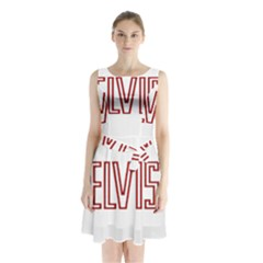 Elvis Presley Sleeveless Waist Tie Chiffon Dress