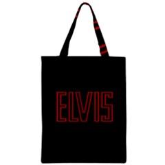 Elvis Presley Zipper Classic Tote Bag
