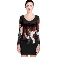 Elvis Presley Long Sleeve Velvet Bodycon Dress