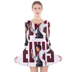 Elvis Presley Long Sleeve Velvet Skater Dress