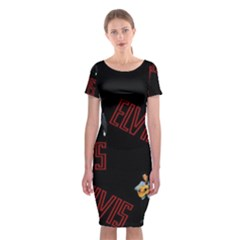 Elvis Presley Classic Short Sleeve Midi Dress