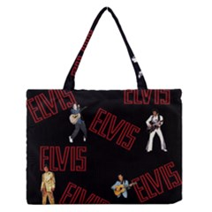 Elvis Presley Zipper Medium Tote Bag