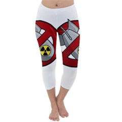 No Nuclear Weapons Capri Winter Leggings