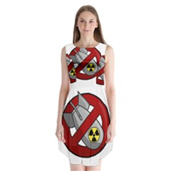 No Nuclear Weapons Sleeveless Chiffon Dress