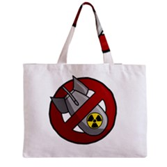 No Nuclear Weapons Zipper Medium Tote Bag