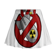 No Nuclear Weapons Mini Flare Skirt