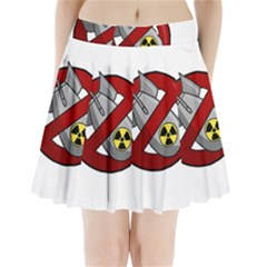 No Nuclear Weapons Pleated Mini Skirt