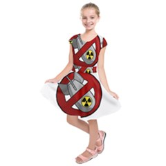 No Nuclear Weapons Kids  Short Sleeve Dress