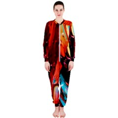 Abstract Acryl Art Onepiece Jumpsuit (ladies)