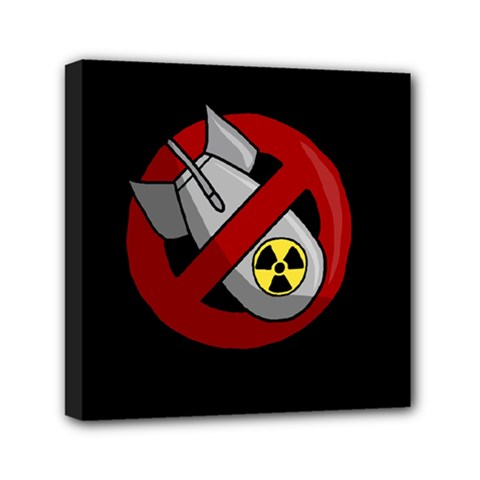 No Nuclear Weapons Mini Canvas 6  X 6