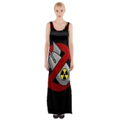 No Nuclear Weapons Maxi Thigh Split Dress