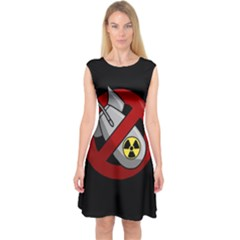 No Nuclear Weapons Capsleeve Midi Dress