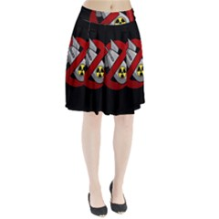 No Nuclear Weapons Pleated Skirt