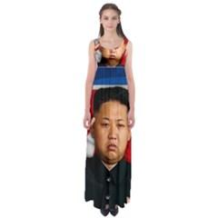 Kim Jong Un Empire Waist Maxi Dress