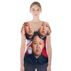 Kim Jong Un Short Sleeve Front Detail Top