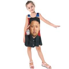 Kim Jong Un Kids  Sleeveless Dress