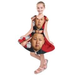 Kim Jong Un Kids  Short Sleeve Dress