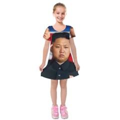 Kim Jong Un Kids  Short Sleeve Velvet Dress